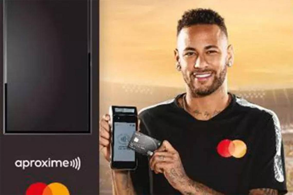 NEYMAR estrelava campanha da bandeira de cartão Mastercard