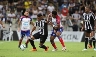 Fortaleza, CE, Brasil, 08-06-2019: Ceará joga contra Bahia na Arena Castelão, pela 8° rodada do Campeonato Brasileiro. Jogo empatado em 0 x 0. (Foto: Fco Fontenele / O Povo)