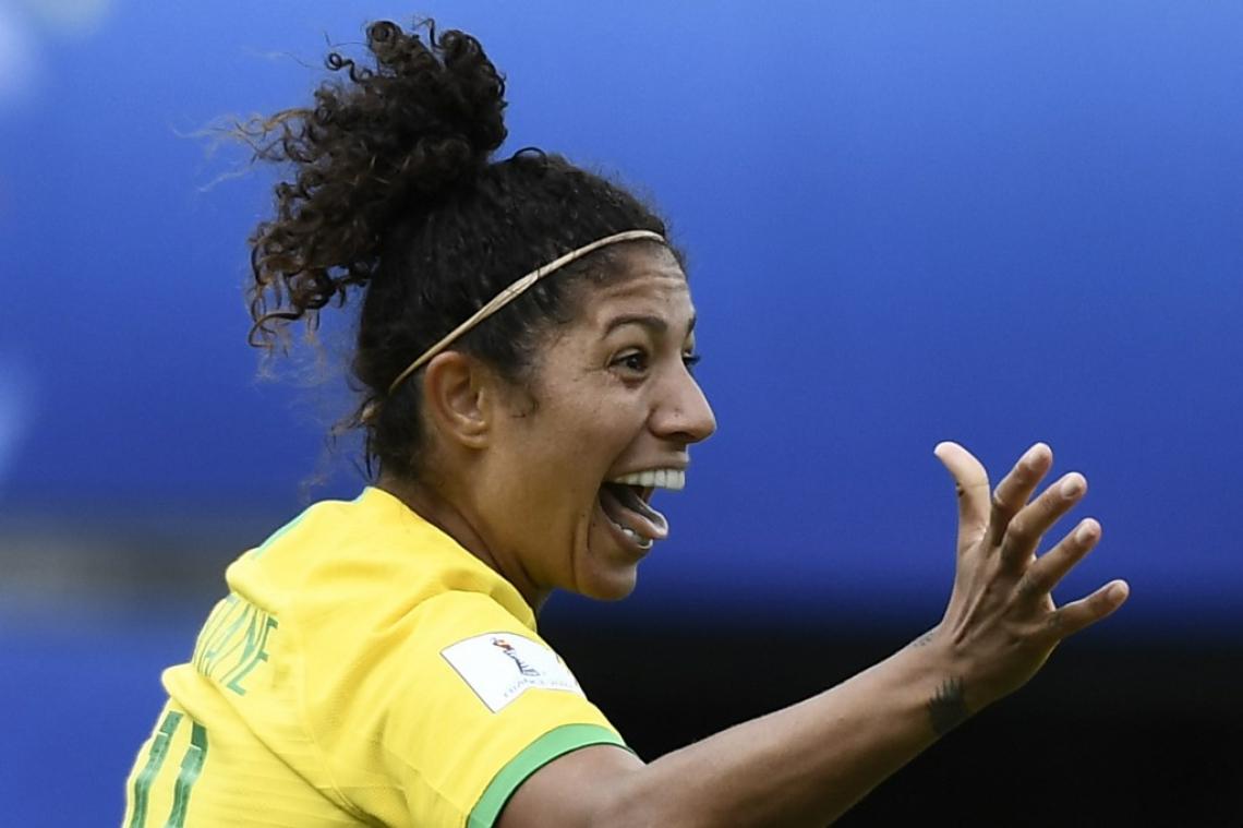 Cristiane marcou três na estreia da Copa do Mundo contra a Jamaica
