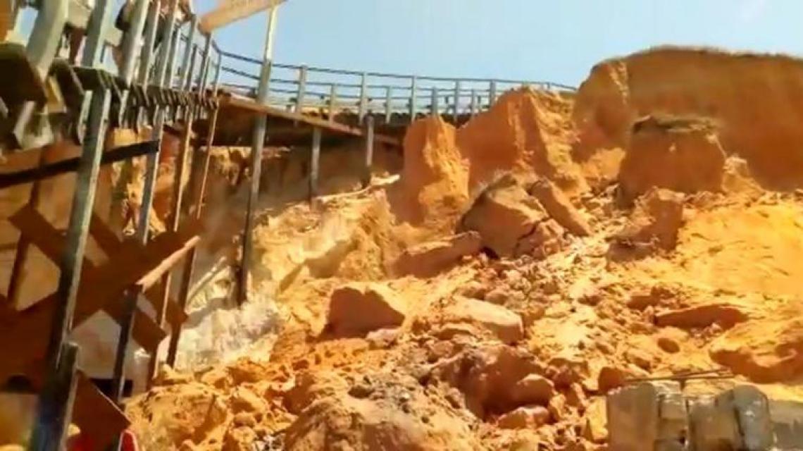 A remoção da passarela de em Canoa Quebrada, no Aracati, foi solicitada devido ao risco de ruína da estrutura, conforme aponta laudo técnico.