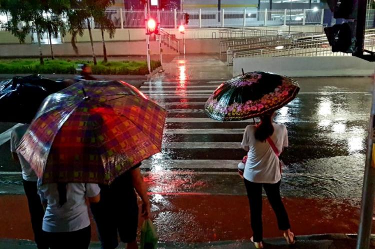 Chuva é registrada desde a noite de terça-feira, 11