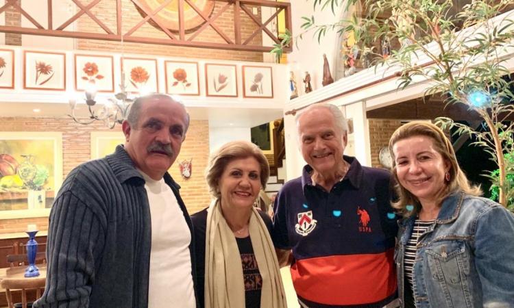 Paulo Sérgio Quezado e Tânia com Paulo e Ester Barbosa.
