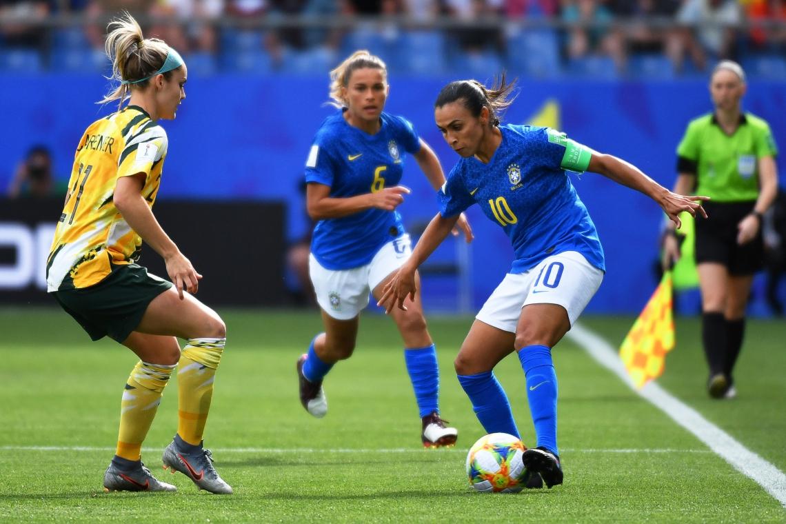 Marta fez a sua estreia na Copa do Mundo Feminina 2019