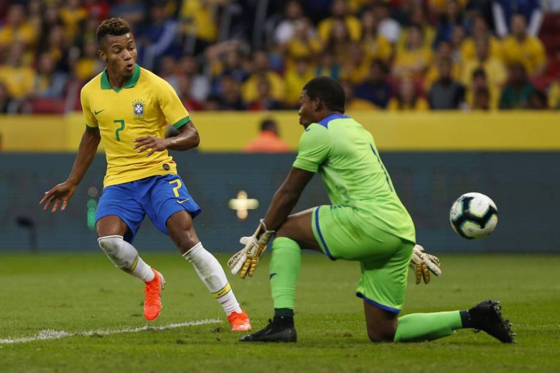 David Neres fez gol no último jogo de preparação antes da Copa América