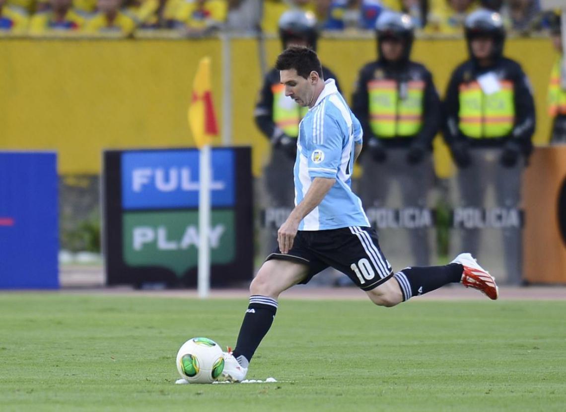 Messi é o camisa 10 da Argentina