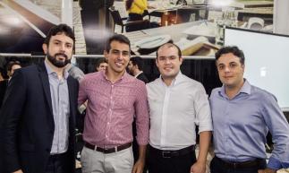 Helder Andrade, Leandro Costa, Eduardo Weimar e Michele Abatemarco promoveram na Mercedes Benz Newsedan, em parceria com a Start Investimentos, palestra sobre