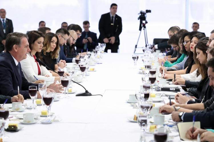 Bolsonaro tomou café da manhã com jornalistas nesta sexta-feira, 14