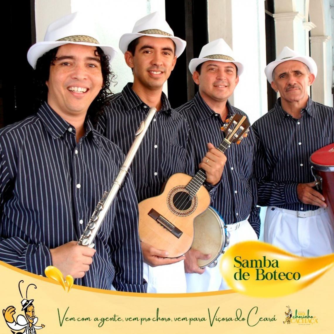Grupo Samba de Boteco vai se apresentar no festival Mel, Chorinho e Cachaça, em Viçosa do Ceará