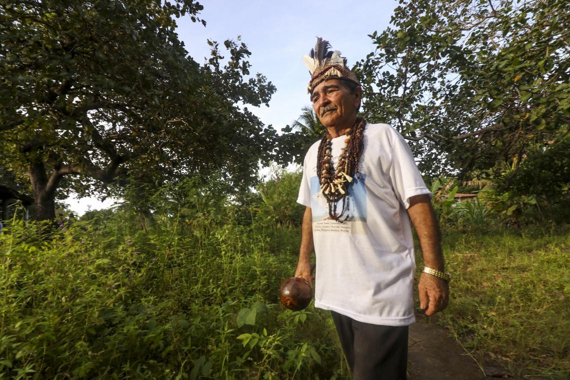 Antônio Ferreira, cacique da tribo Anacé, de Caucaia
