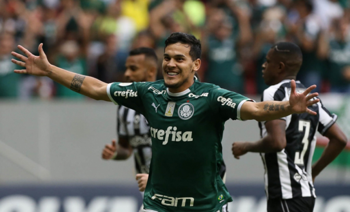 Gustavo Gomez foi autor do gol que deu a vitória do Palmeiras por 1 a 0 diante do Botafogo, que alegava irregularidade no lance que antecedeu o tento