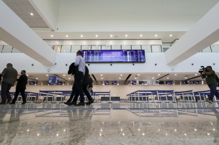 Nova área de check-in do aeroporto Pinto Martins (Em 25/06/2019).