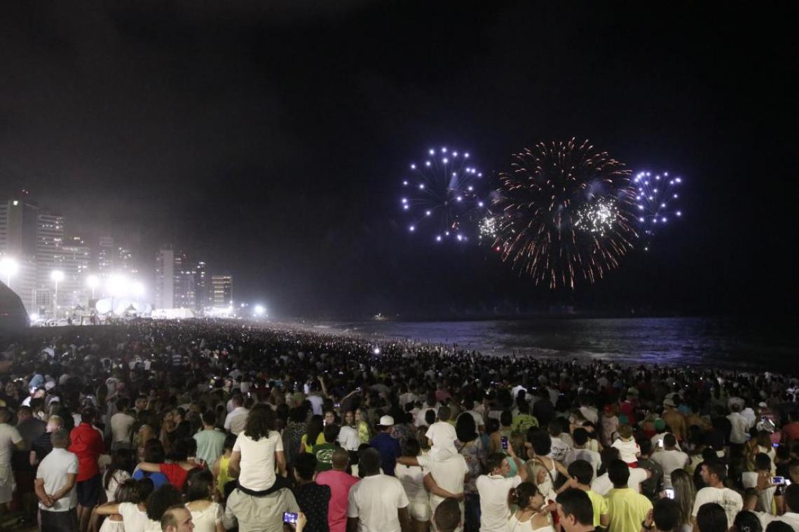 Réveillon de Fortaleza na Praia de Iracema