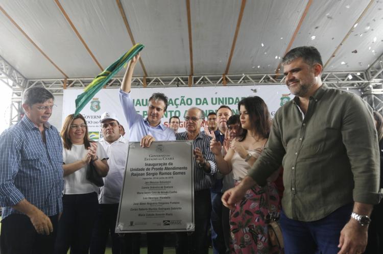 O governador Camilo Santana esteve, na manhã deste sábado, 29, na cidade de Jaguaribe, onde foi inaugurada a 35ª Unidade de Pronto Atendimento (UPA) do Estado