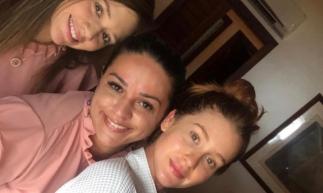Nazaré Santos e sua equipe com a atriz Marina Ruy Barbosa