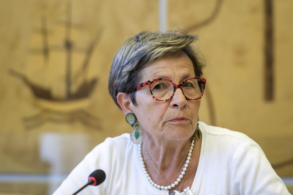 A mãe de Vincent, Viviane Lambert, participou de um evento, nesta segunda-feira, no Conselho de Direitos Humanos da ONU, em Genebra