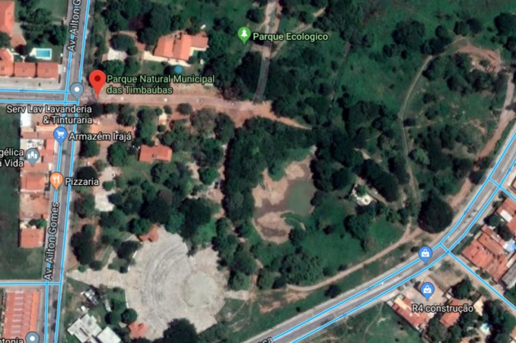 O Parque Natural Municipal das Timbaúbas fica na rua Padre Nestor Sampaio, em Juazeiro do Norte.