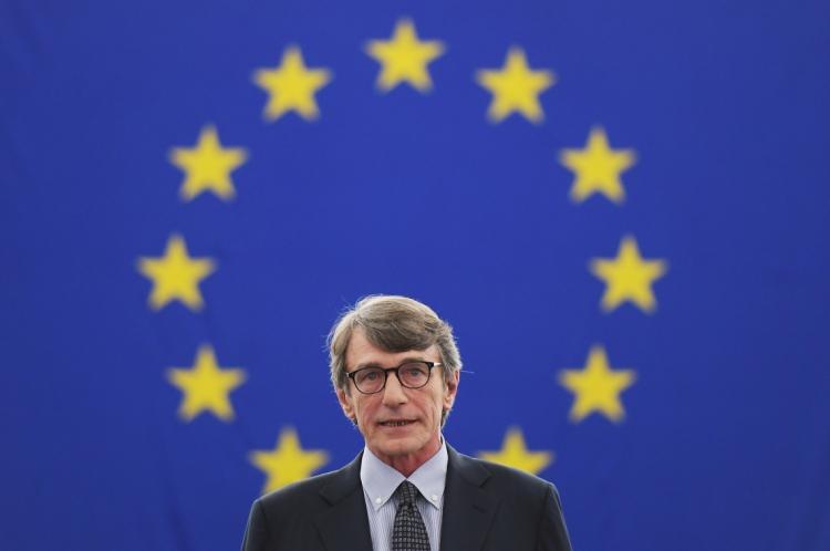 David-Maria Sassoli foi eleito novo presidente do Parlamento Europeu, em Estrasburgo, na França
