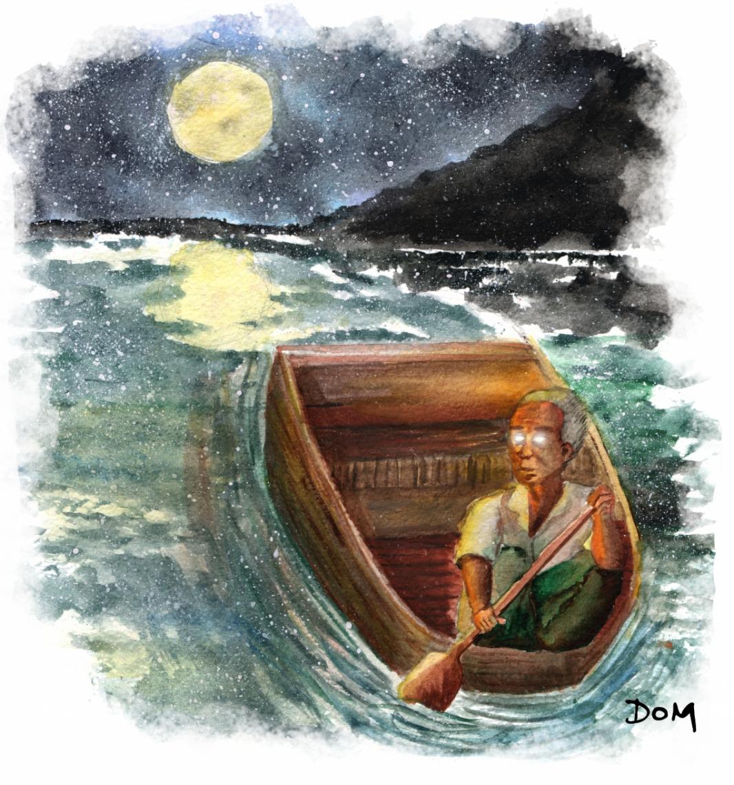 Ilustração de Domitila Andrade para o conto As almas penadas do açude grande