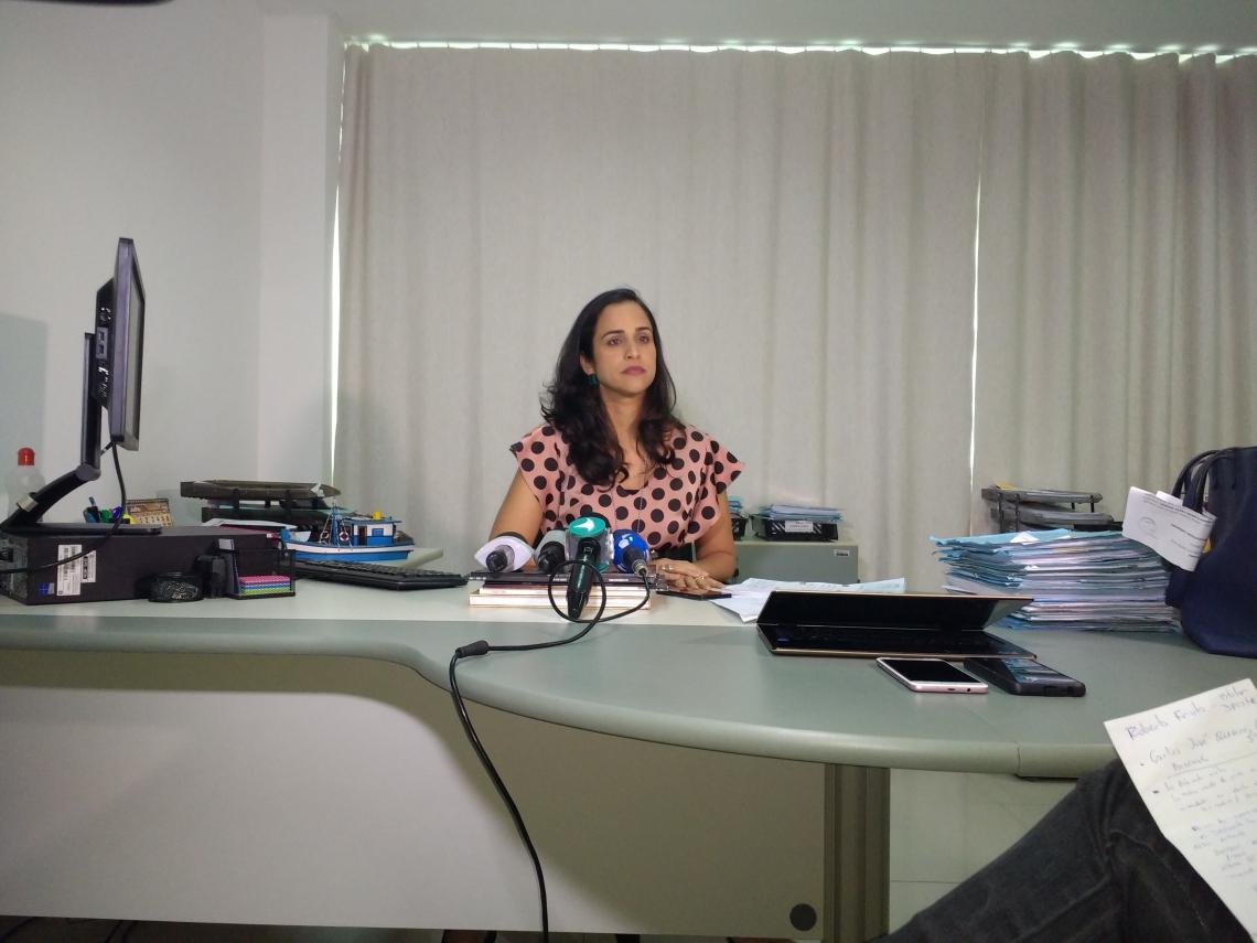 Roberta Frota, titular da Delegacia de Proteção ao Turista (Deprotur), repassou as informações sobre a operação em coletiva na tarde desta quarta-feira, 3.