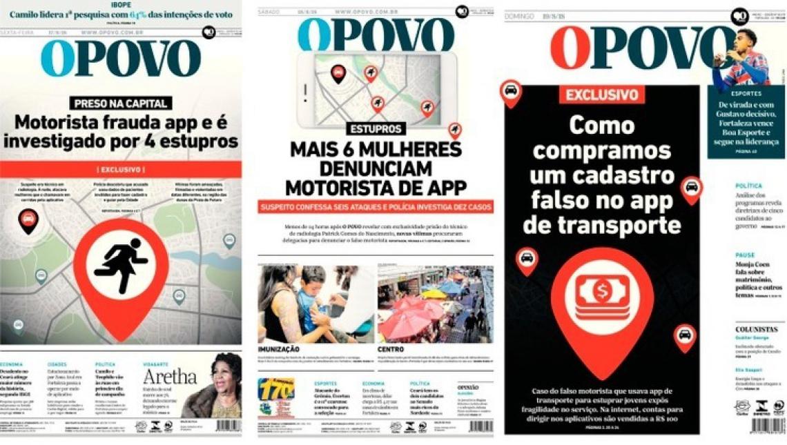 O POVO publicou série de reportagens na qual revelou os estupros cometidos por motorista de aplicativo