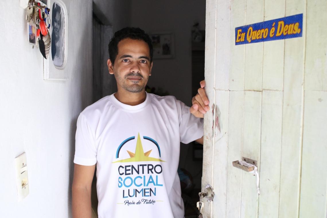 Leandro da Cruz comemora a chegada do primeiro filho, Lucas Valentin