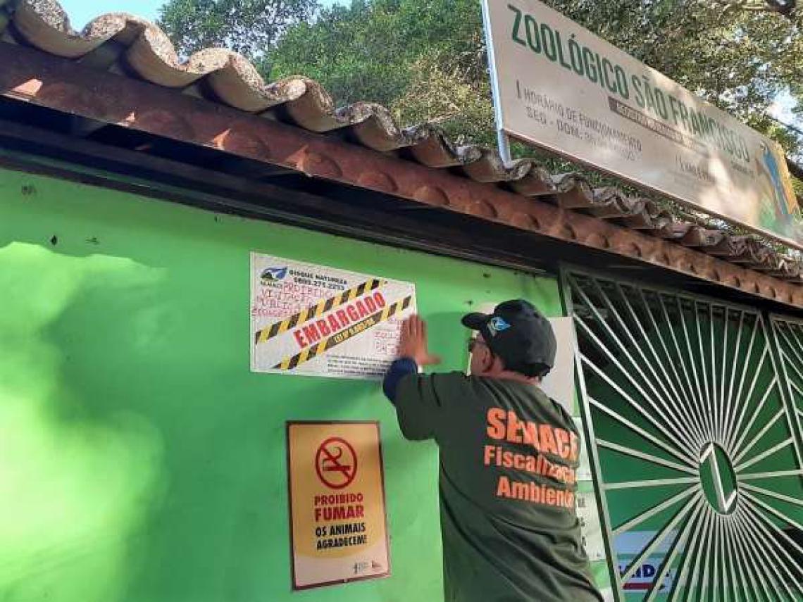 A medida sobre o Zoológico São Francisco será mantida até a solicitação da autorização.