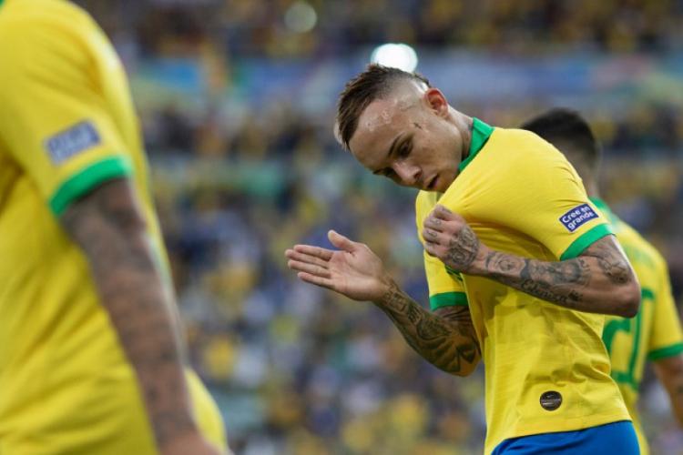 Everton foi campeão da Copa América em 2019 e eleito o melhor jogador da final (Foto: Lucas Figueiredo/CBF)