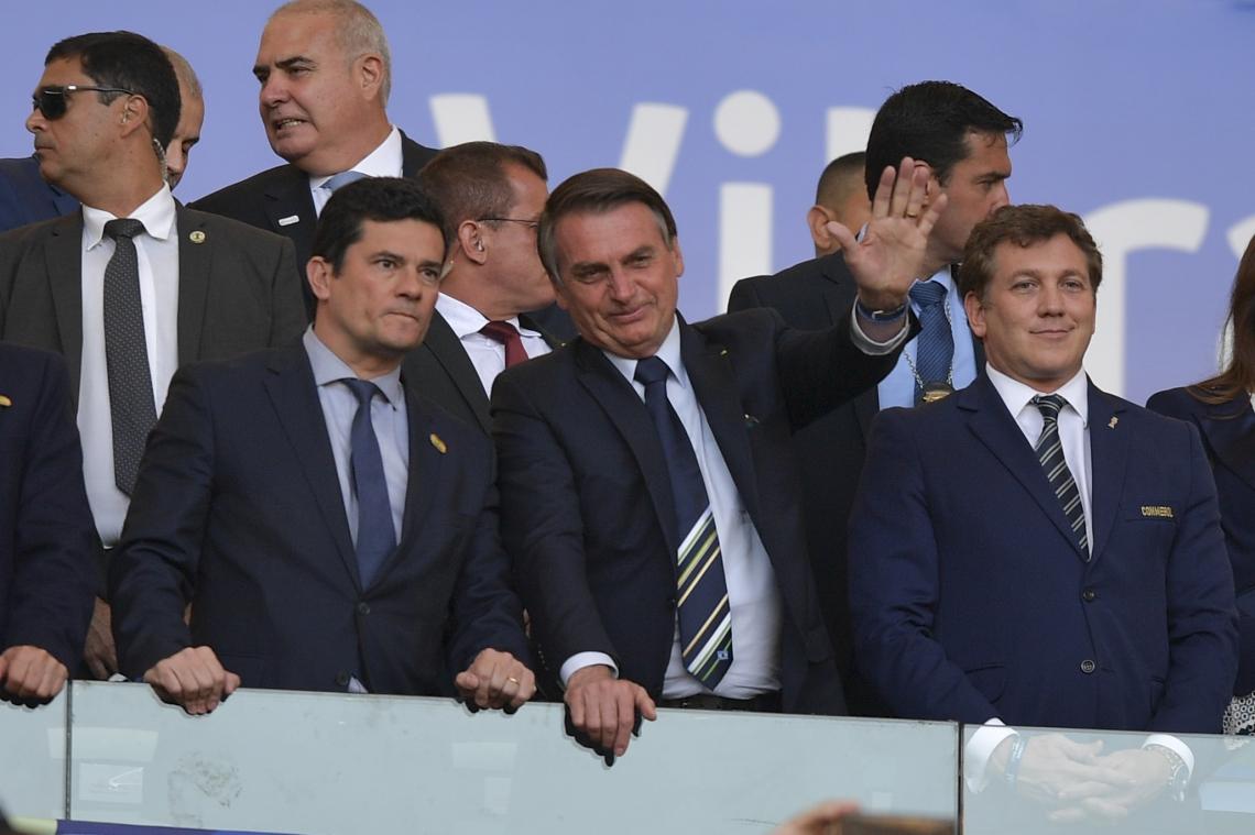MORO esteve ontem no Maracanã ao lado de Bolsonaro para assistir à final da Copa América