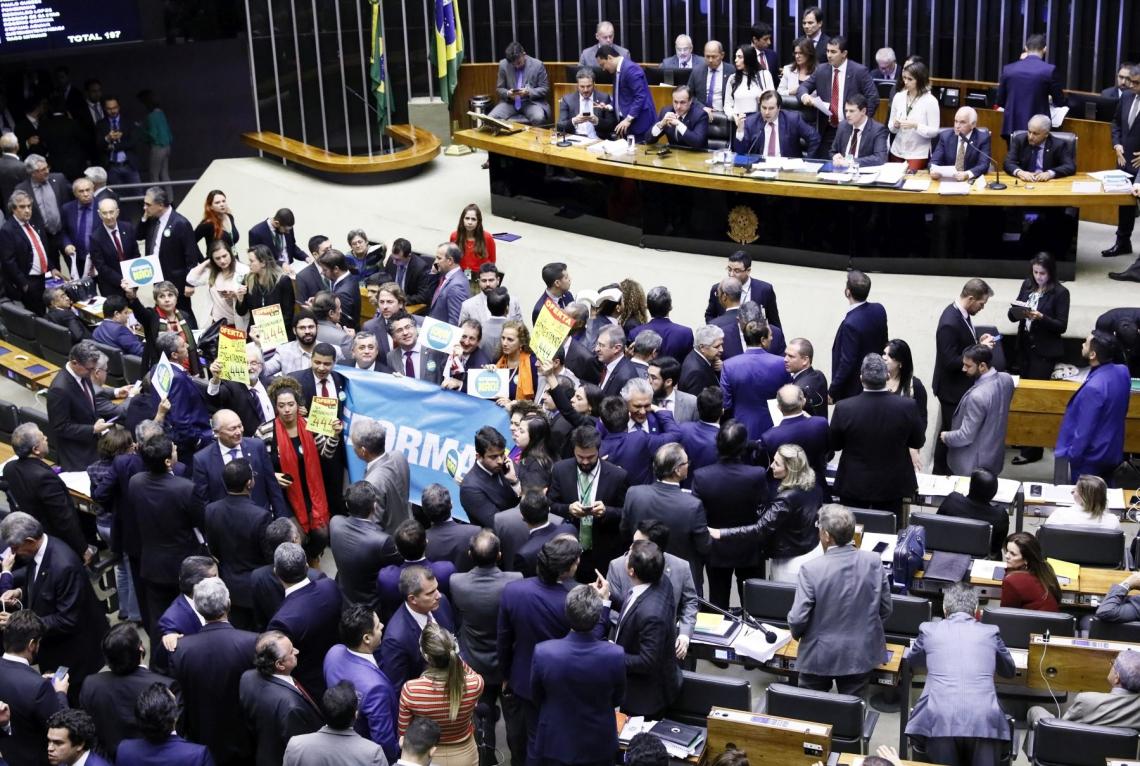 SESSÃO no Plenário para análise da reforma contou com alto quórum na Casa: 505 deputados