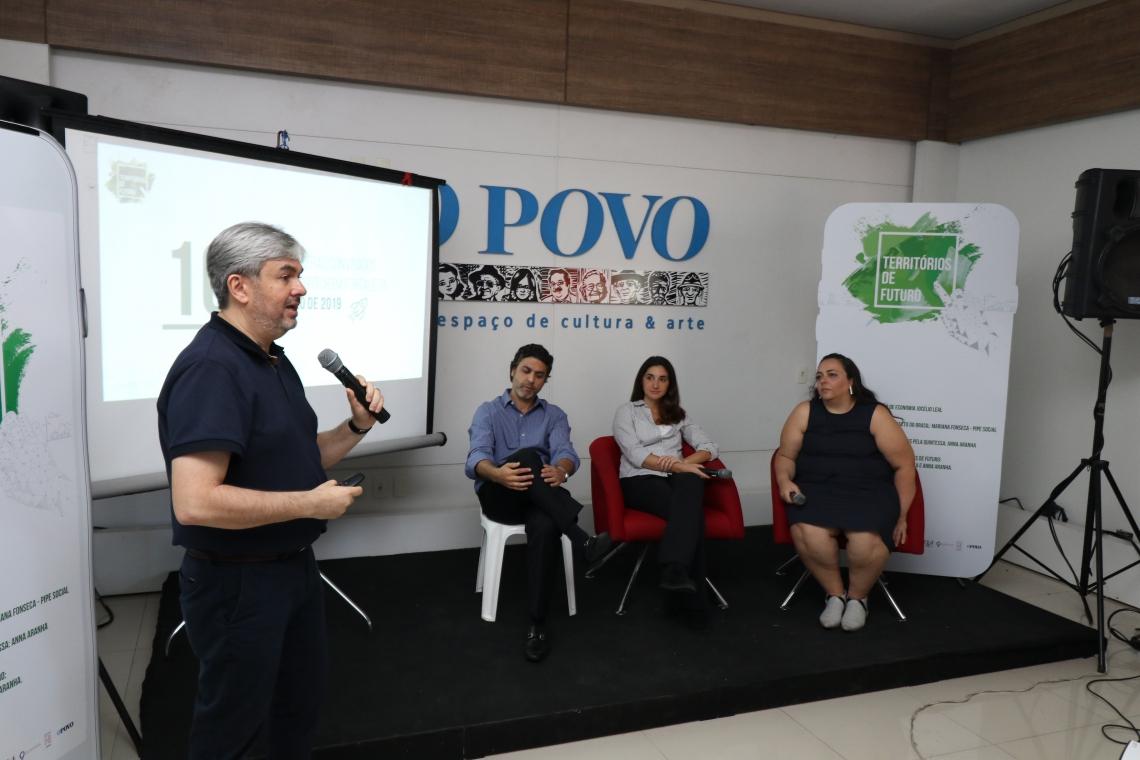 HAROLDO Rodrigues (In3citi), Bernardo Veloso (Marquise), Anna Aranha (Quintessa) e Mariana Fonseca (Pipe Social)
