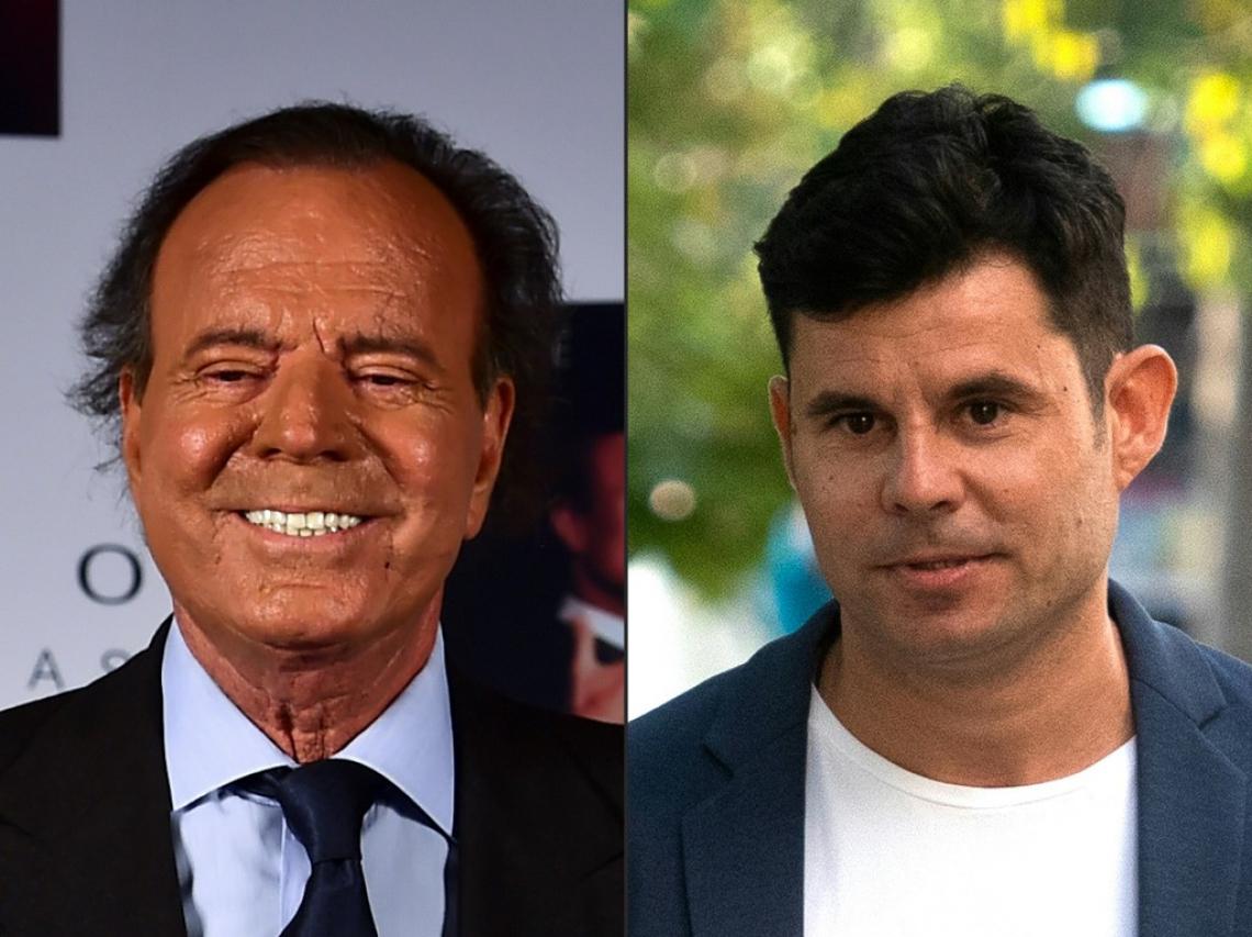Julio Iglesias e Javier Sanchez Santos, pai e filho, segundo decisão da Justiça espanhola