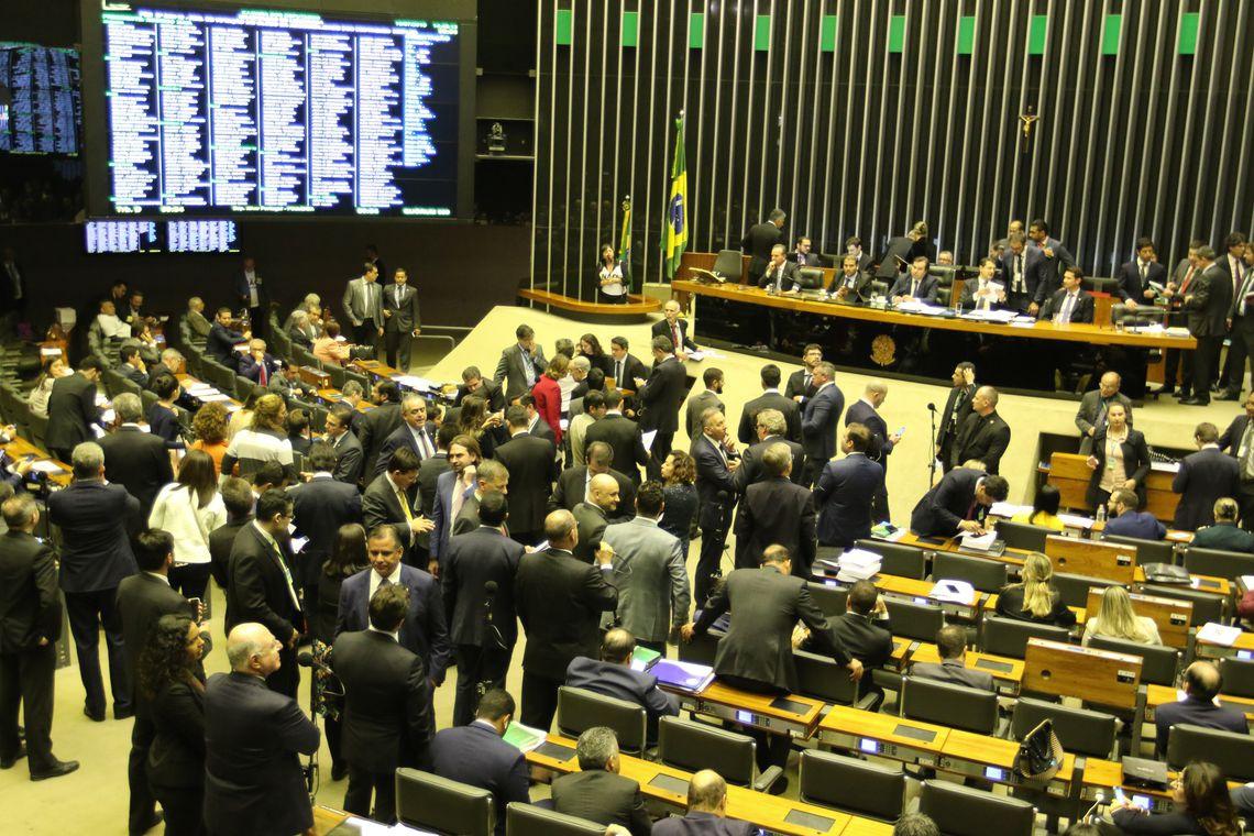 Plenário da Câmara durante votação da reforma da Previdência