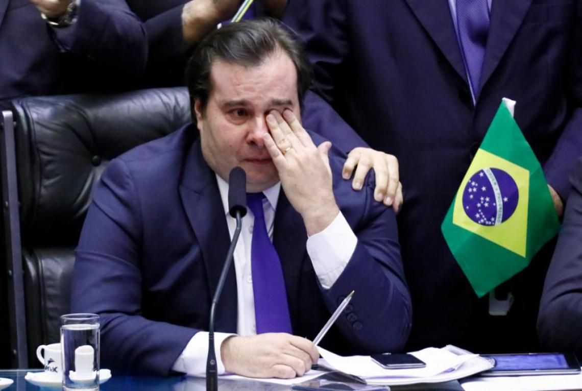 Rodrigo Maia emocionado com aprovação da reforma da Previdência