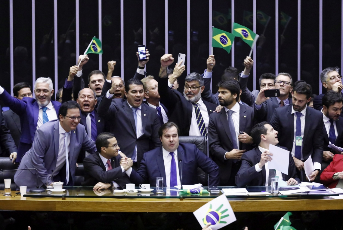 PRESIDENTE da Câmara, Maia chegou a chorar após confirmação do resultado da votação