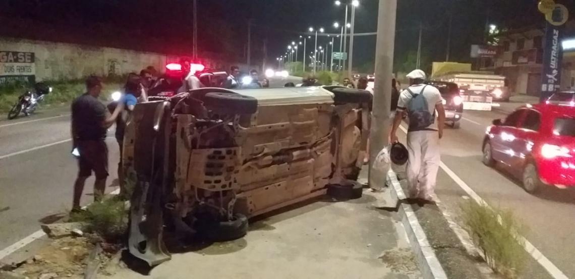 Mãe de 46 anos e filha de 10 anos tiveram ferimentos leves e foram atendidas na UPA do Eusébio, na noite dessa quinta-feira, 11