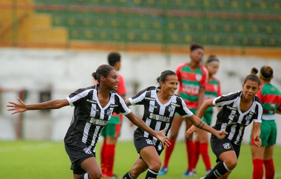 Na fase de oitavas de final, as meninas do Ceará eliminaram a Portuguesa.