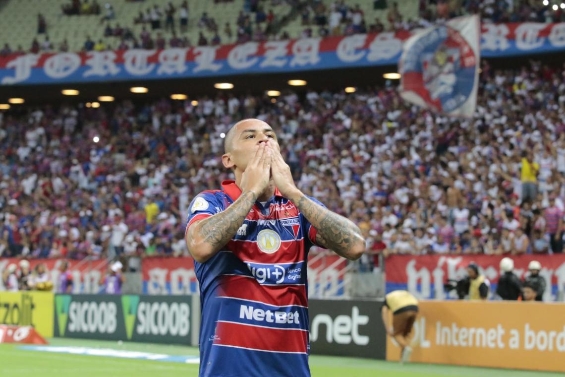 Wellington demorou 11 jogos para fazer o primeiro gol pelo Fortaleza; agora, tem quatro nos últimos três jogos