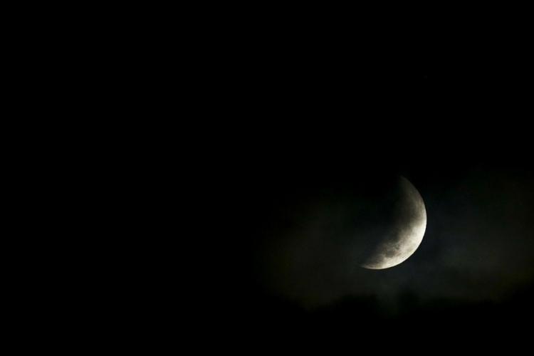 Eclipse Lunar em Fortaleza (Foto: AURELIO ALVES)