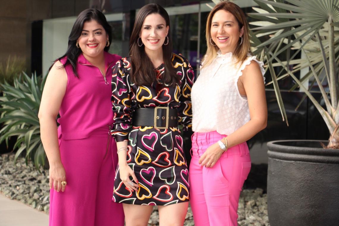 Viviane Almada, Marcella Feitosa e Giuliana Botelho são umas das organizadoras do Bazar Maxamigas