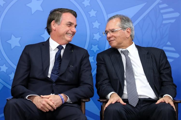 Segundo pesquisa, momento é de ruídos na relação entre o presidente Jair Bolsonaro e o ministro Paulo Guedes
