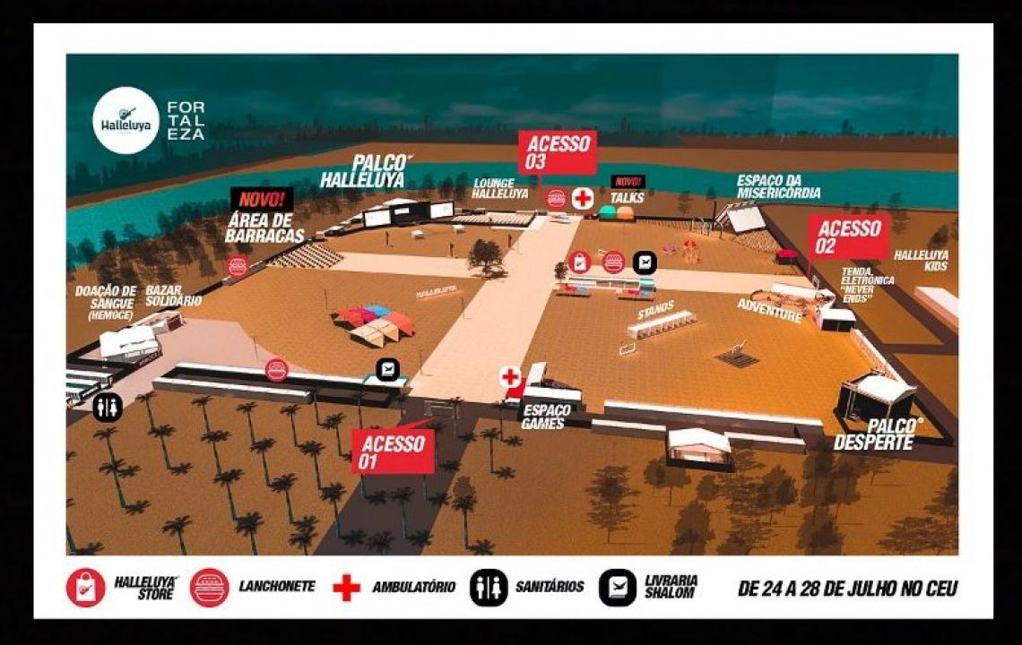 Mapa do festival.