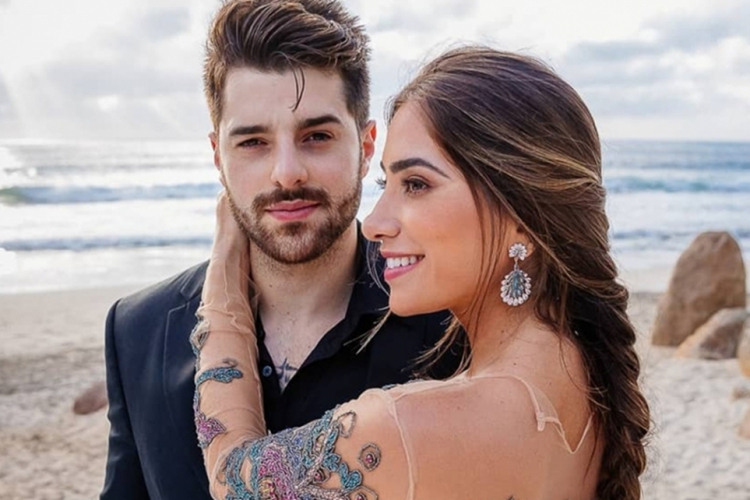 DJ Alok e a mulher Romana Novais. Casal espera o segundo filho (Foto: Reprodução/Instagram)