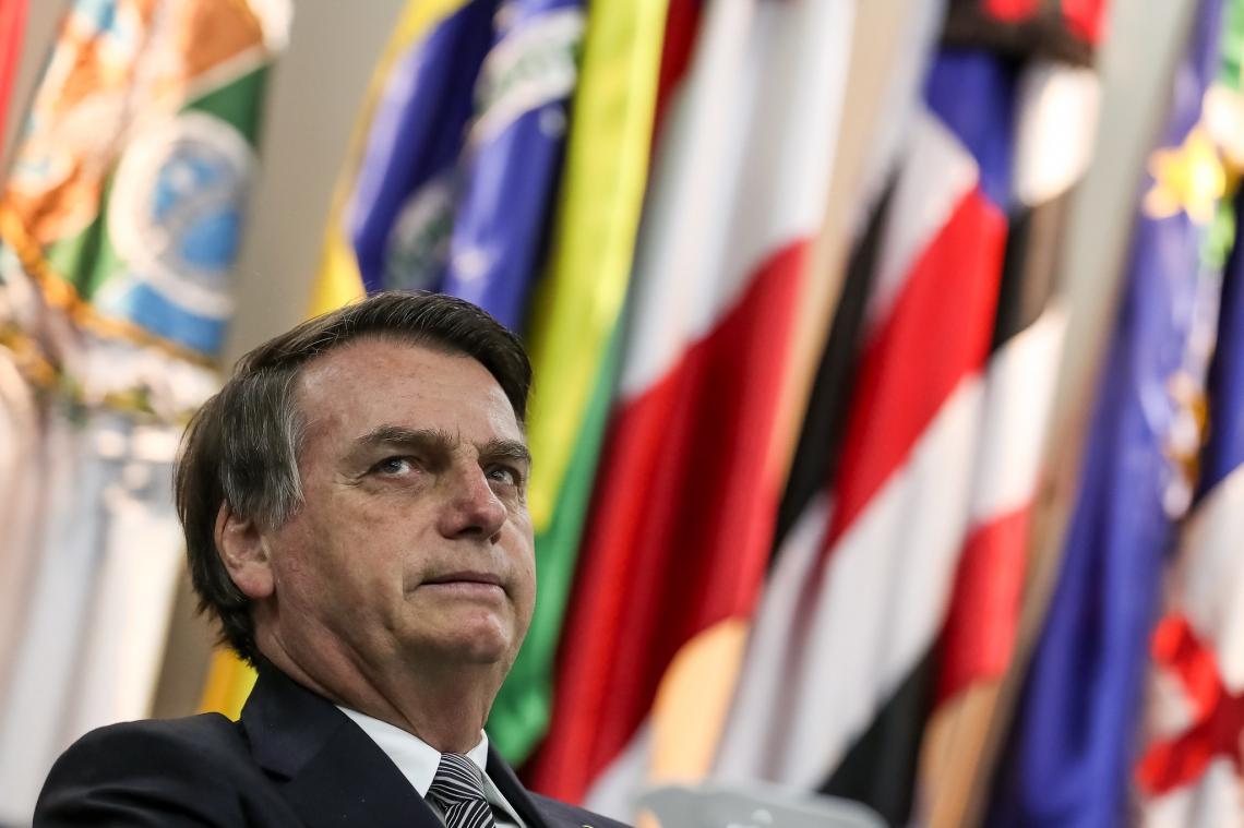 Bolsonaro participou da solenidade pelo Dia Nacional do Futebol