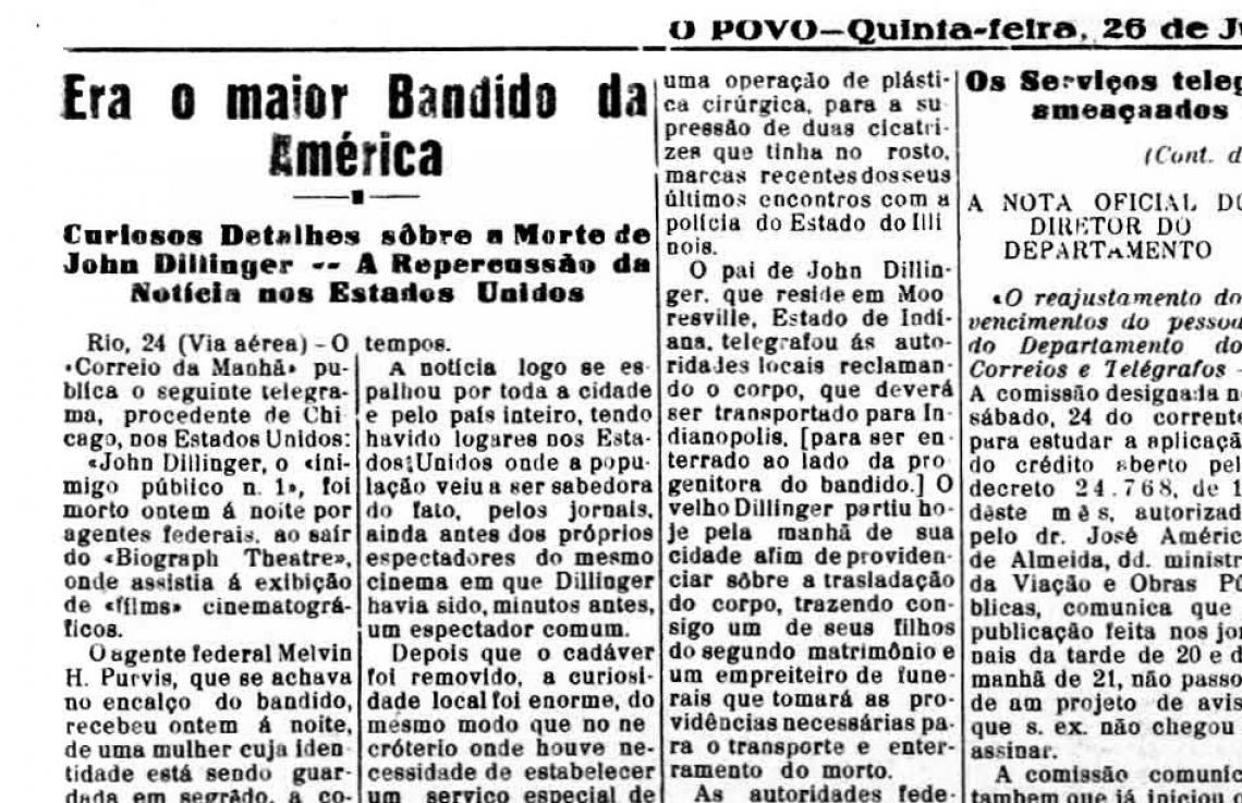 O POVO em 26 de julho de 1934