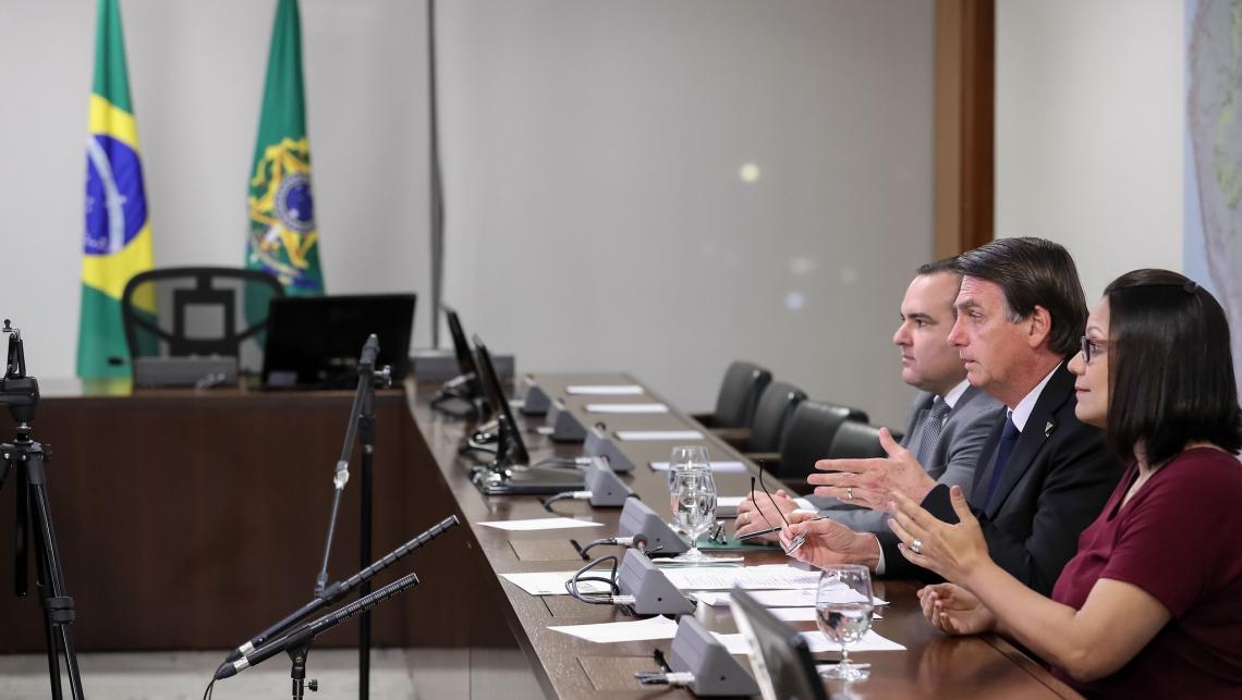 Bolsonaro fez transmissão ao vivo nesta quinta-feira
