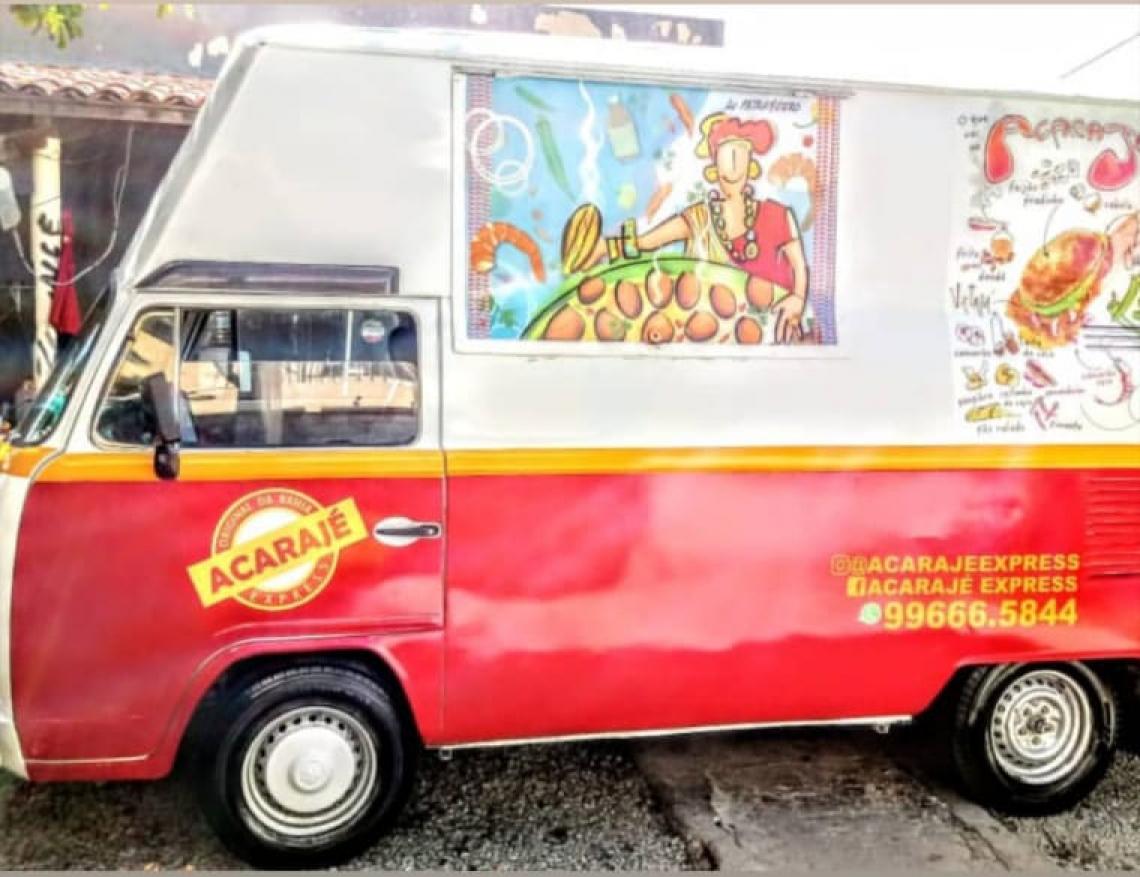 O Food Truck do Acarajé express se distribui em 5 pontos de Fortaleza. A ação será na Carlito Pamplona