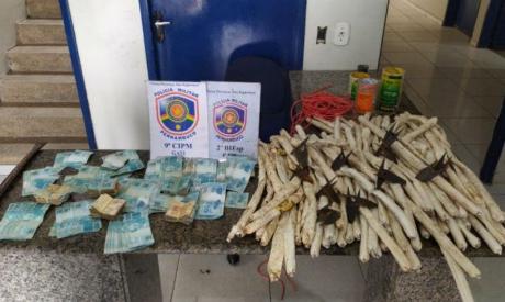 Suspeitos de ação em Salitre foram presos com 78 bananas de dinamite e outros equipamentos