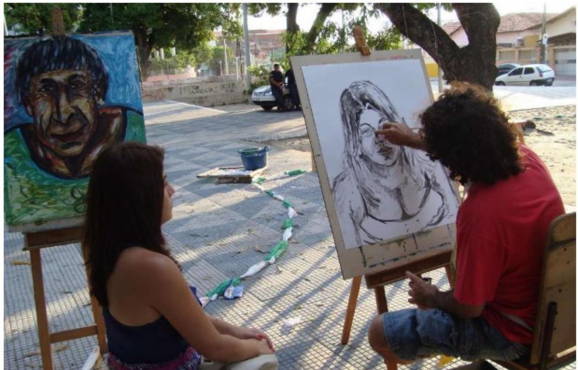 Atividades da I Semana de Arte Urbana Benfica, em 2018