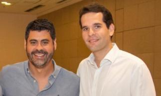 Felipe Capistrano e João Fiuza no Imobiday, evento promovido pela Zap Imóveis, que apresentou as tendências e inovações do mercado