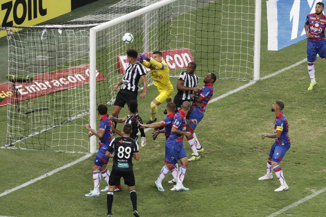 No primeiro turno, o Ceará venceu com direito a gol de cabeça de Felippe Cardoso